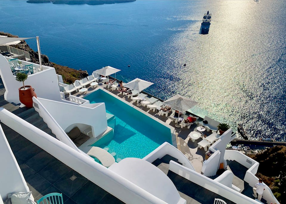 Pool at Athina Luxury Suites in Santorini.