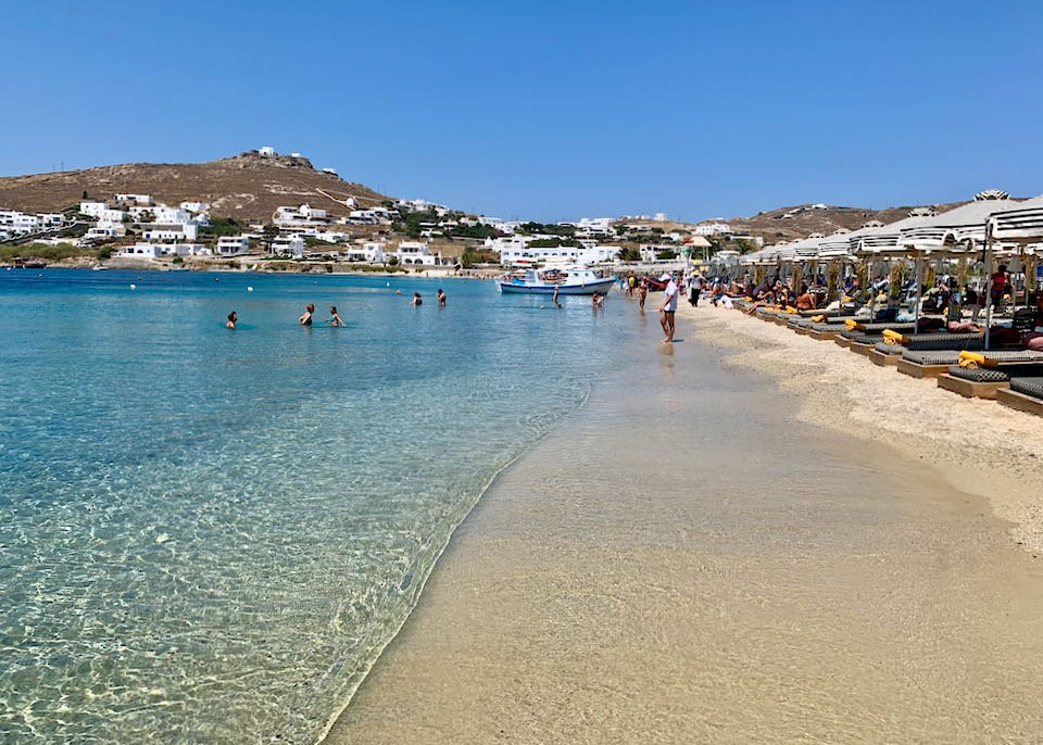 Travel guide to the Greek island of Mykonos.