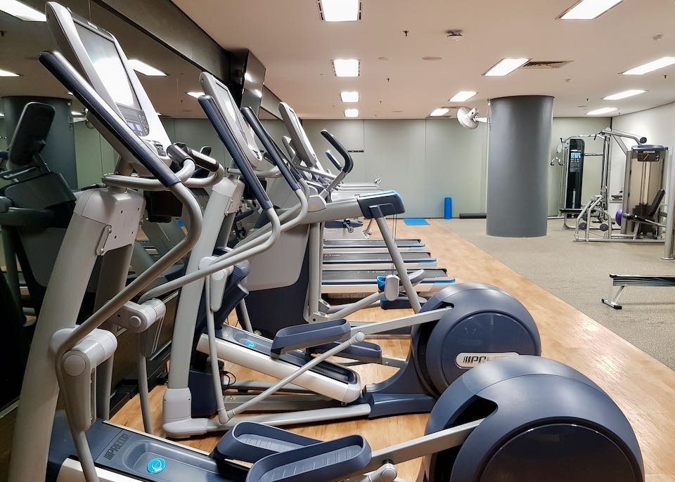The gym is modern.