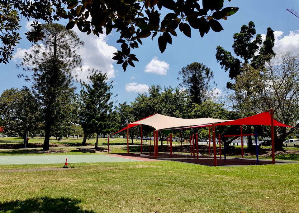 Musgrave Park features a playground and an old-world charm.