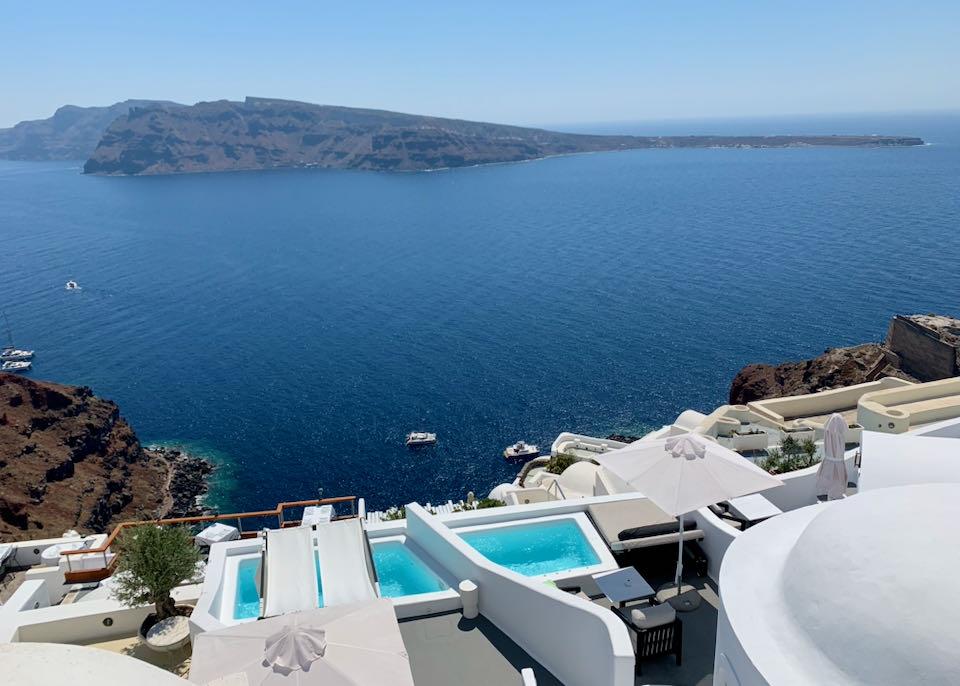 Charisma Hotel in Santorini.