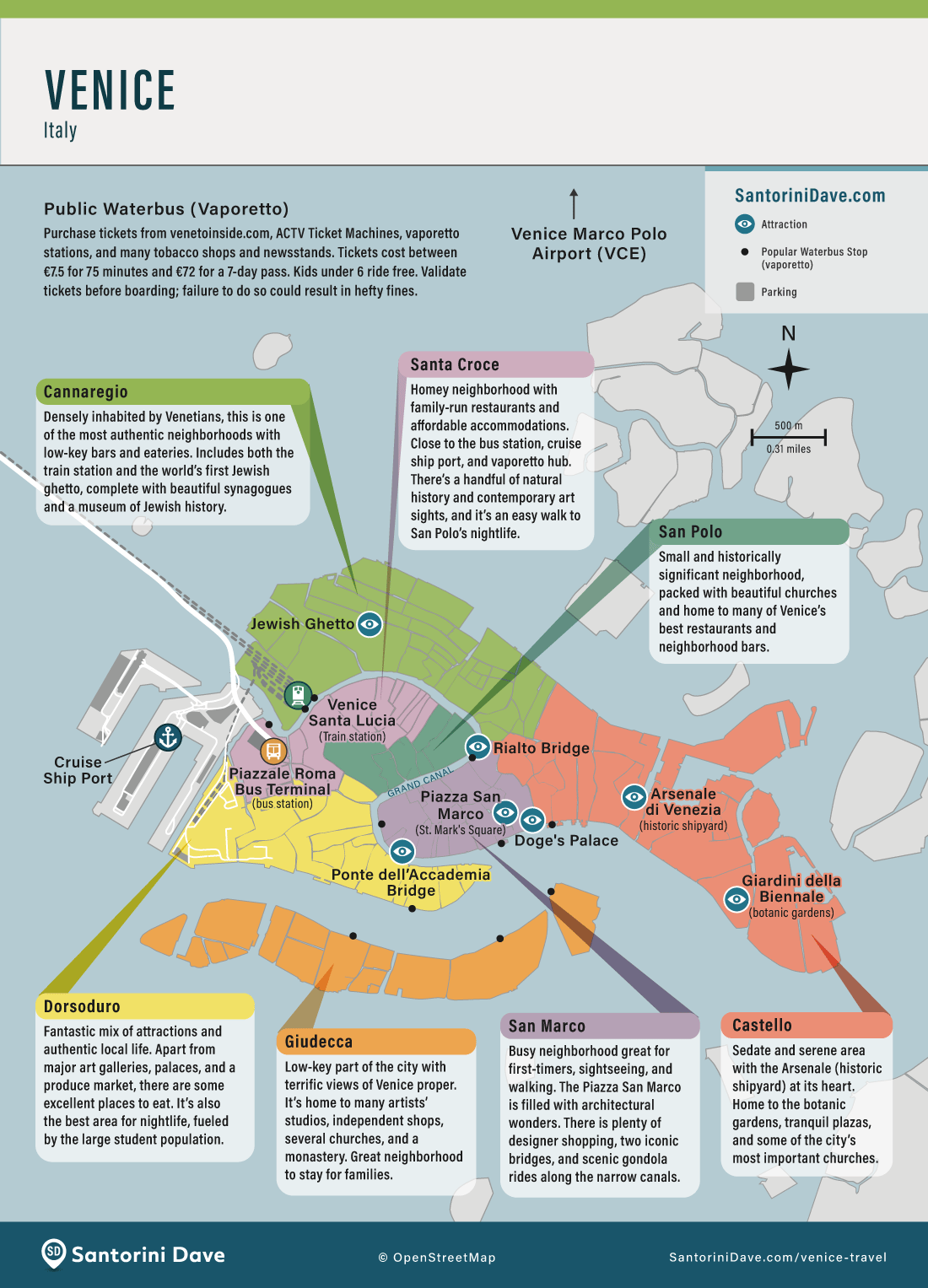 Map of Venice Hotels and Neighborhoods