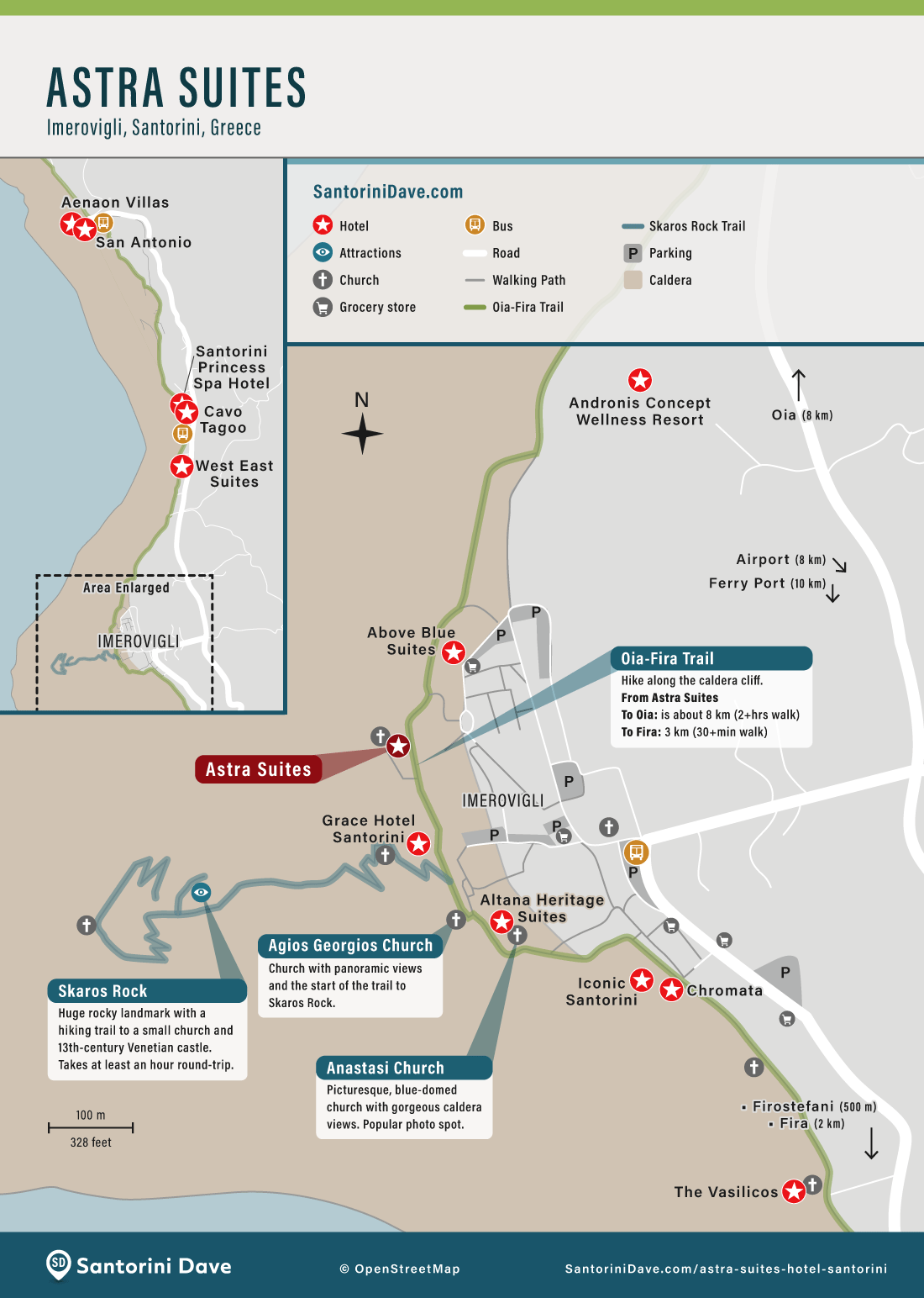 Map of Astra Suites Hotel in Imerovigli.