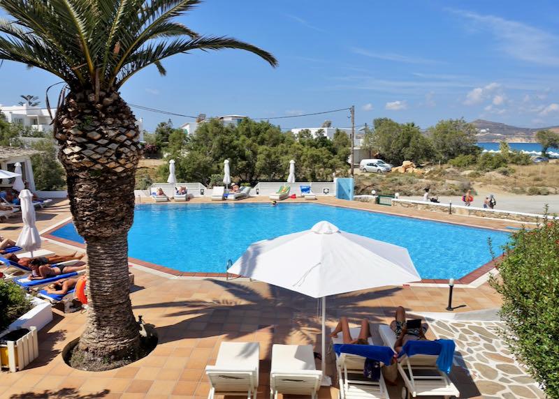 Galaxy Hotel at Agios Georgios Beach in Naxos.