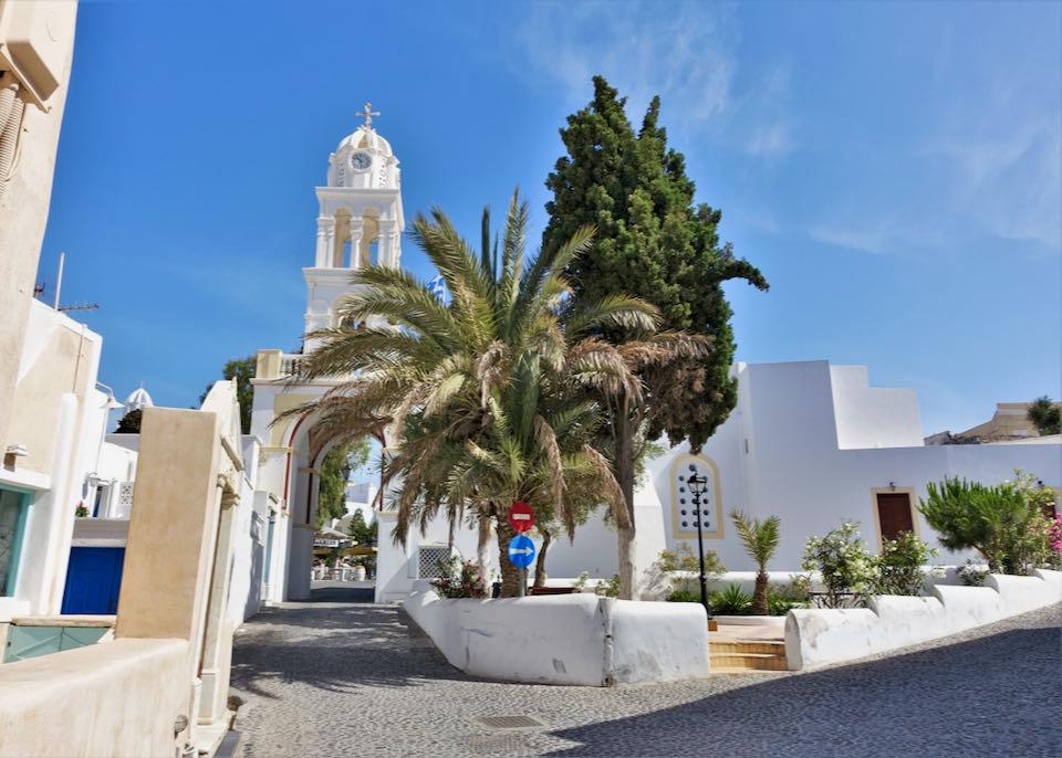 Church at entrance of Megalochori village