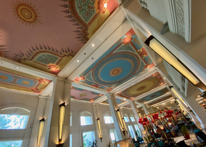 Painted ceilings of the lobby