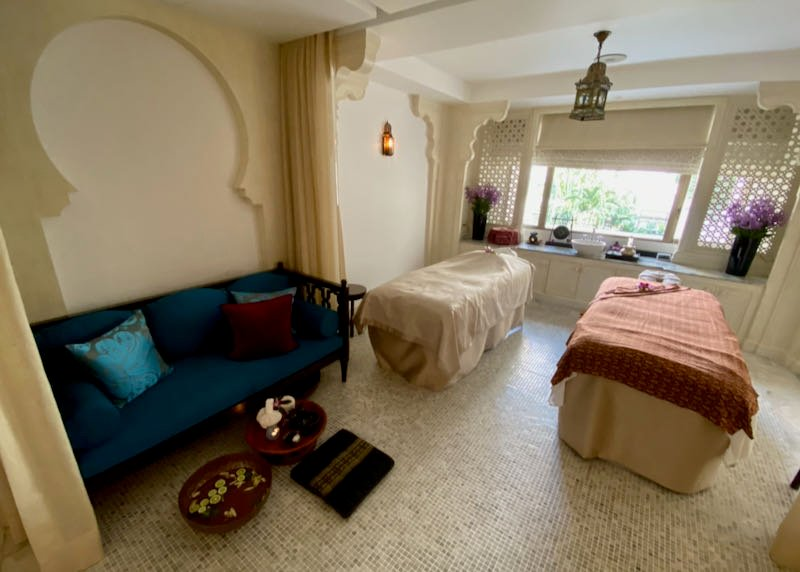 Couples treatment room in the spa