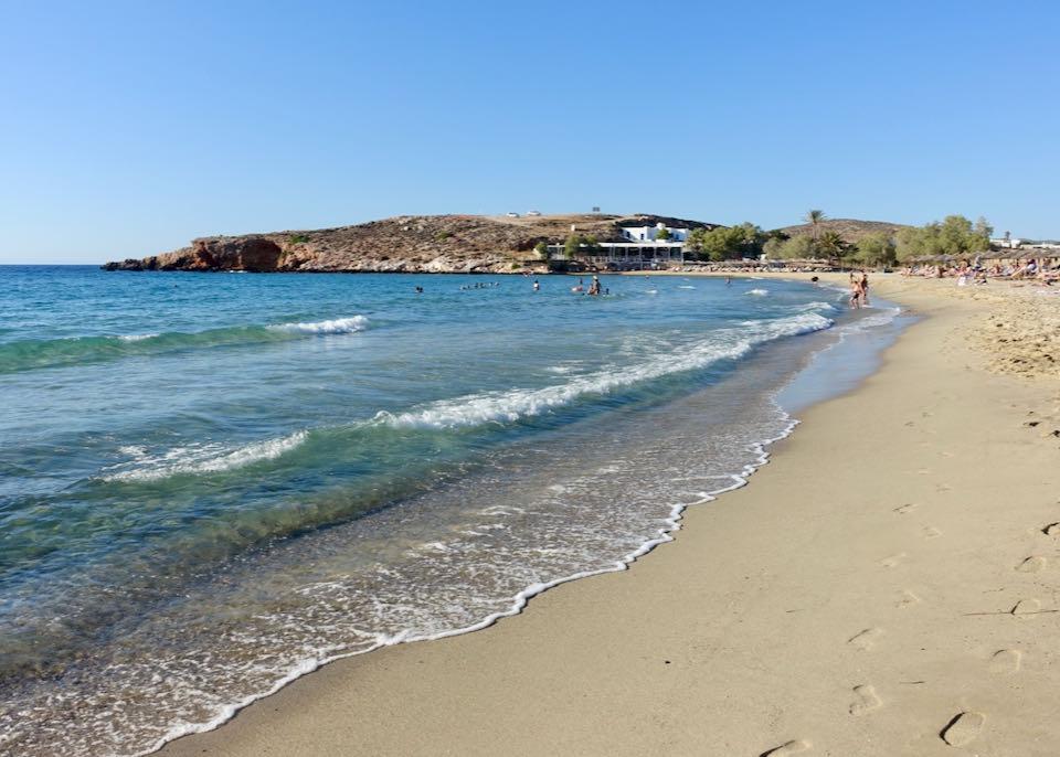 Parasporos Beach in Paros, Greece