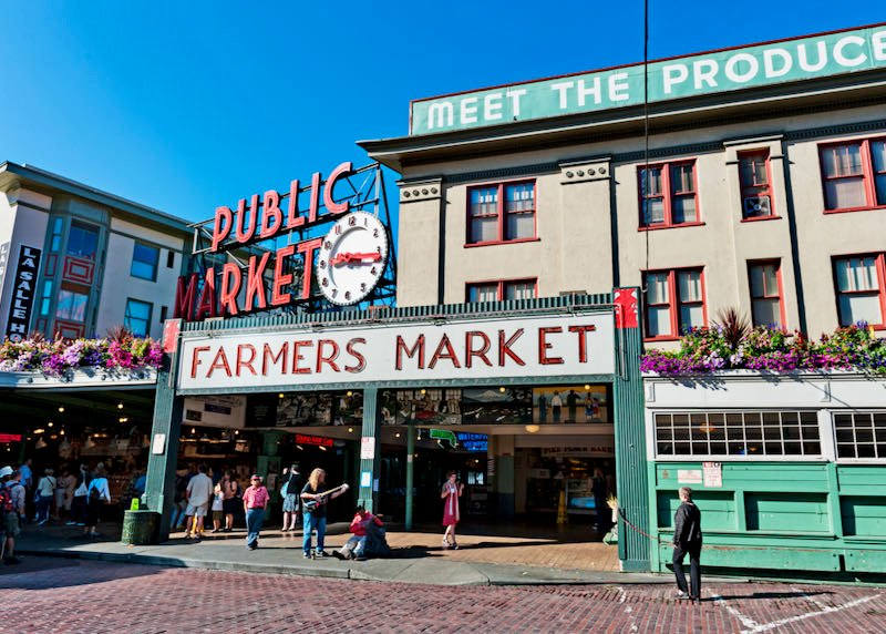 Pike Place Market in Downtown Seattle.