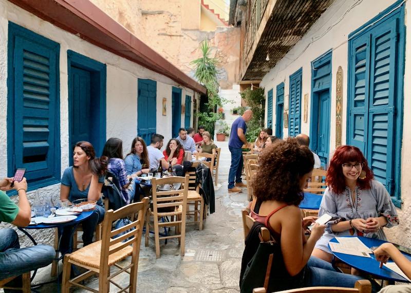 Avli Restaurant in Athens, Greece