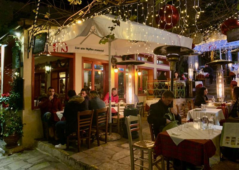 Geros Tou Moria restaurant evening