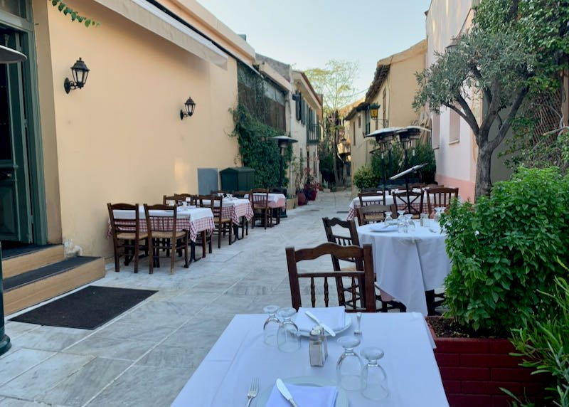 The Old Tavern of Psarras outdoor seating